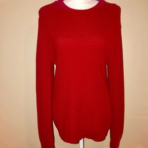 H&M Red Chunky Cable Knit Sweater Medium